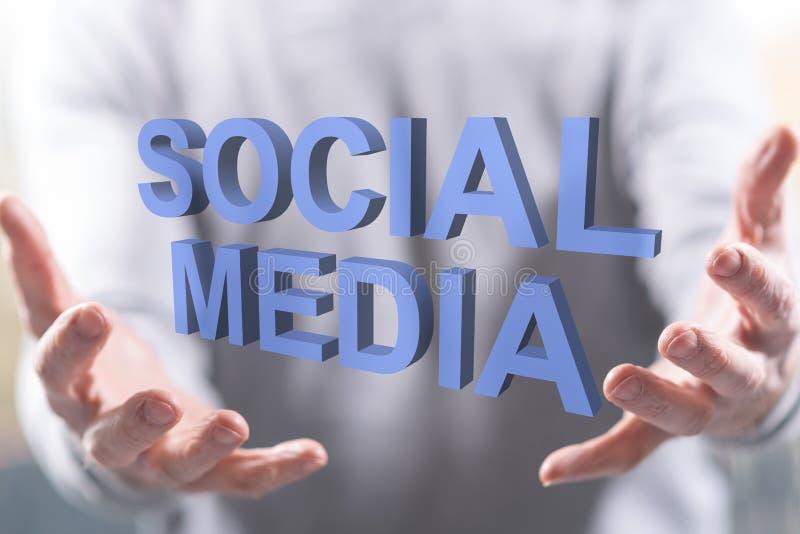 Concept de media social image libre de droits