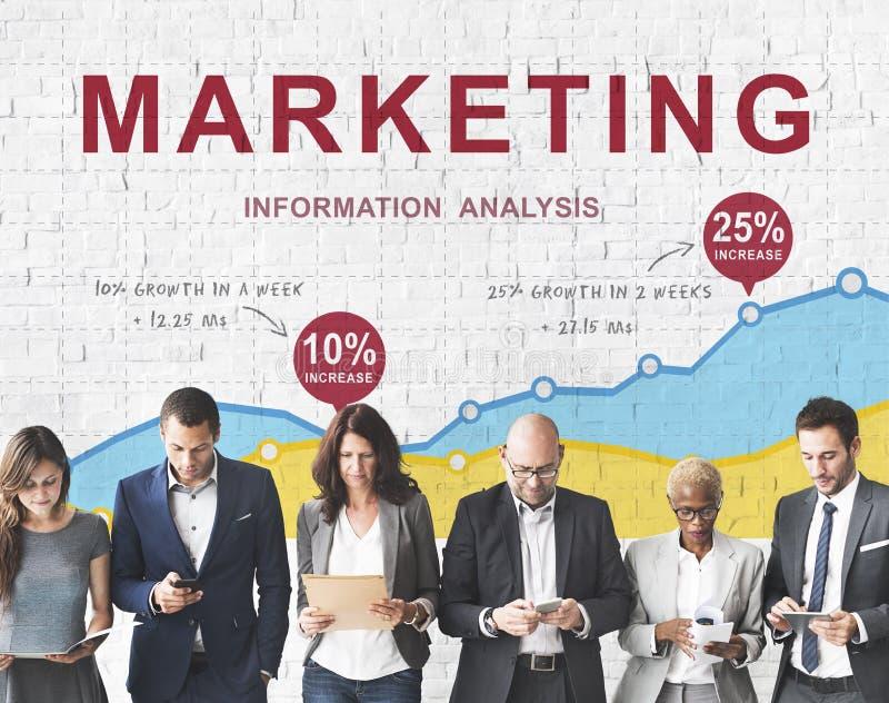 Concept de message publicitaire de vision de stratégie de plan d'action de vente photo stock