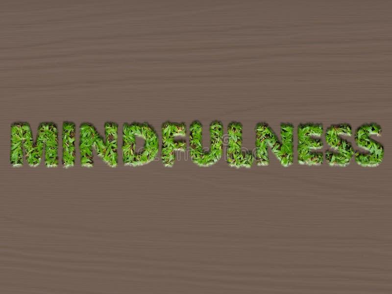 Concept de Mindfulness utilisant l'effet d'herbe photos libres de droits