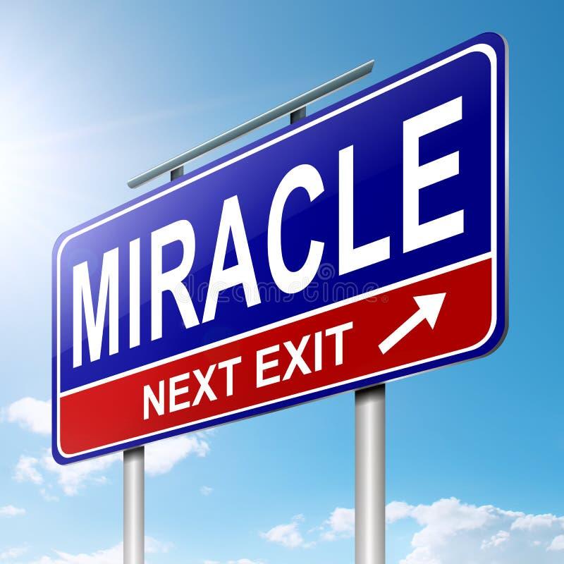 Concept de miracle. illustration libre de droits