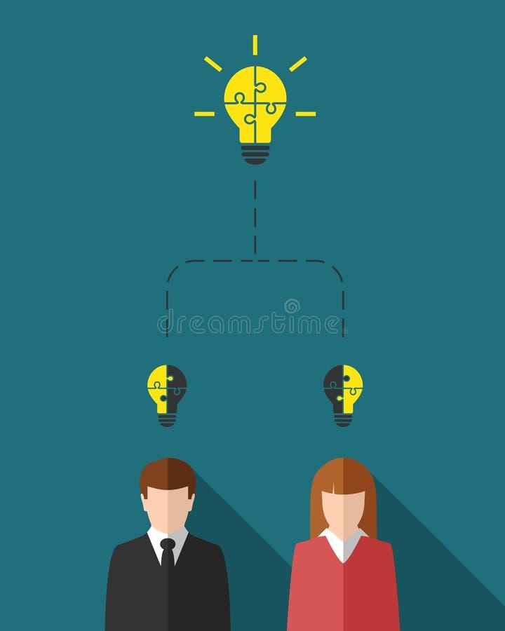 Concept de mise en réseau avec les personnes diverses illustration stock
