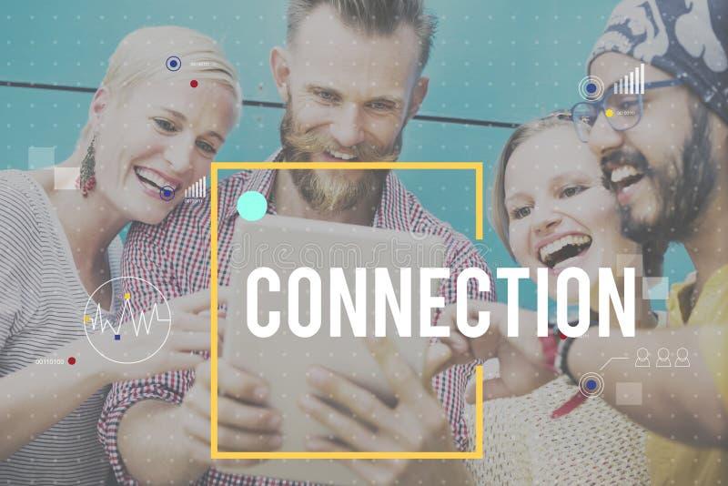 Concept de mise en réseau de technologie numérique de connexion de communication photographie stock