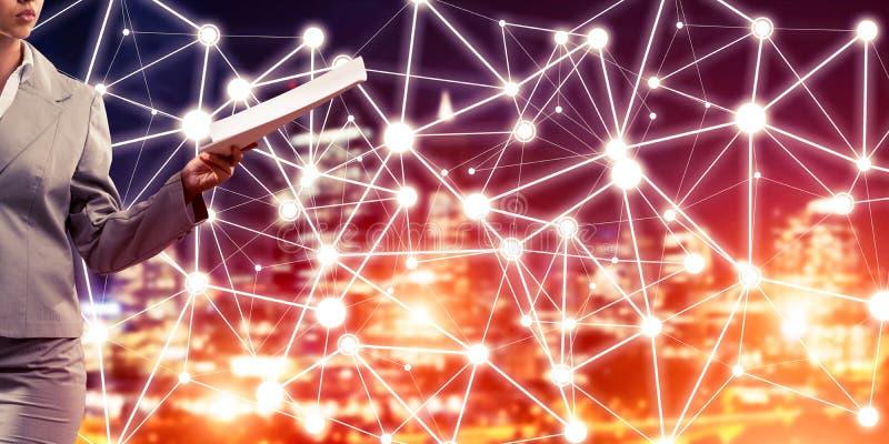 Concept de mise en réseau moderne d'affaires qui se relient et coopèrent image libre de droits