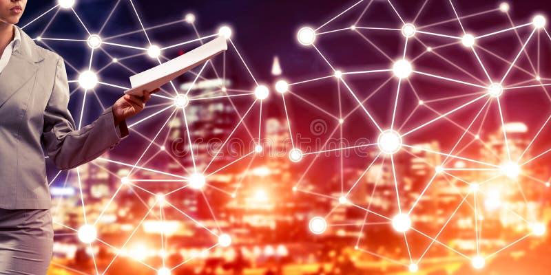 Concept de mise en réseau moderne d'affaires qui se relient et coopèrent photo libre de droits