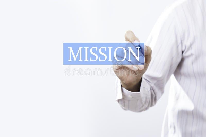Concept de mission d'aspiration d'homme d'affaires photo stock