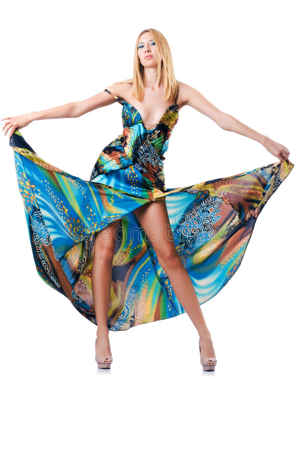 Concept de mode avec le modèle grand images stock