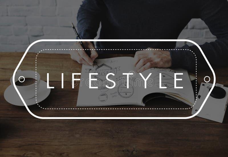 Concept de mode de vie de style de comportement d'habitudes de mode de vie images stock