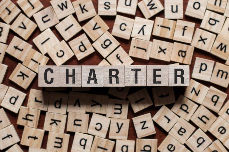 Concept de mot de charte image stock
