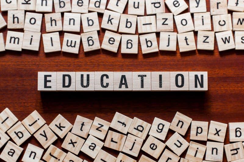Concept de mot d'éducation photos libres de droits