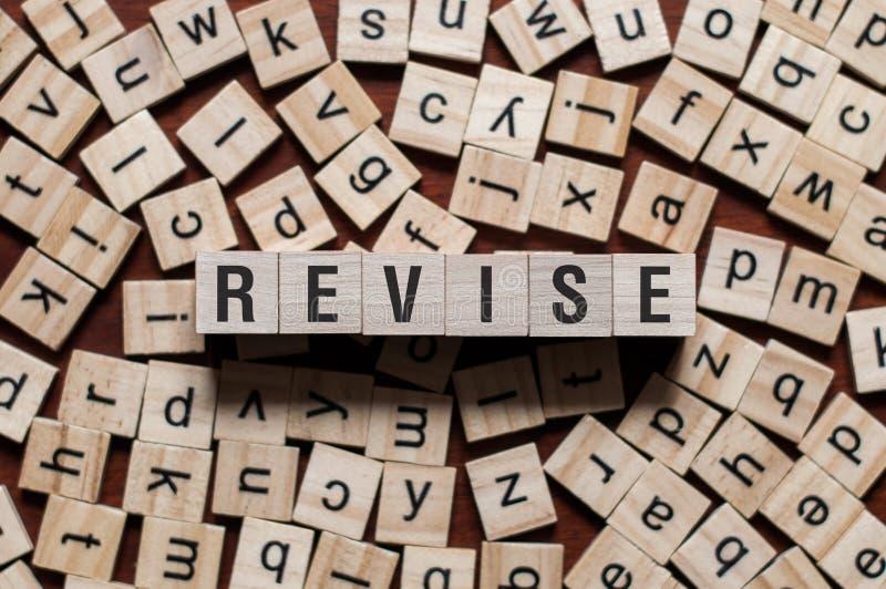 Concept de mot d'épreuve de révision photos libres de droits