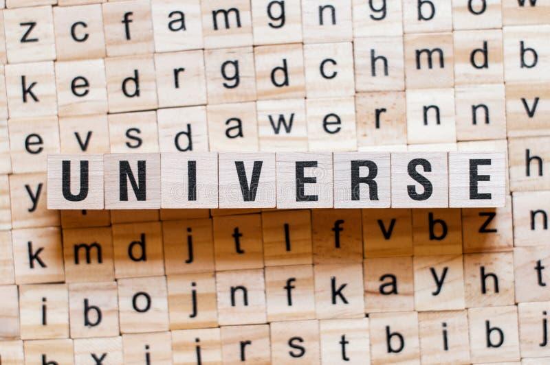 Concept de mot d'univers images stock