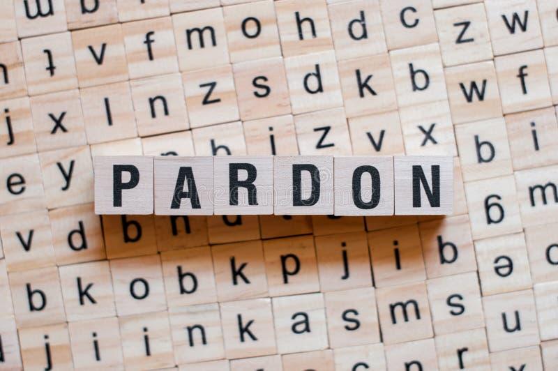 Concept de mot de pardon image libre de droits