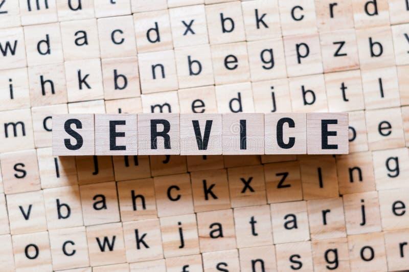 Concept de mot de service image libre de droits