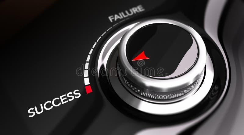 Concept de motivation, fond de succès illustration de vecteur