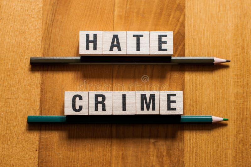 Concept de mots de crime de haine photographie stock libre de droits