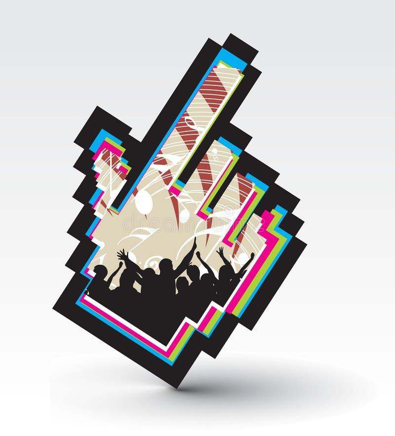 Concept de musique illustration libre de droits