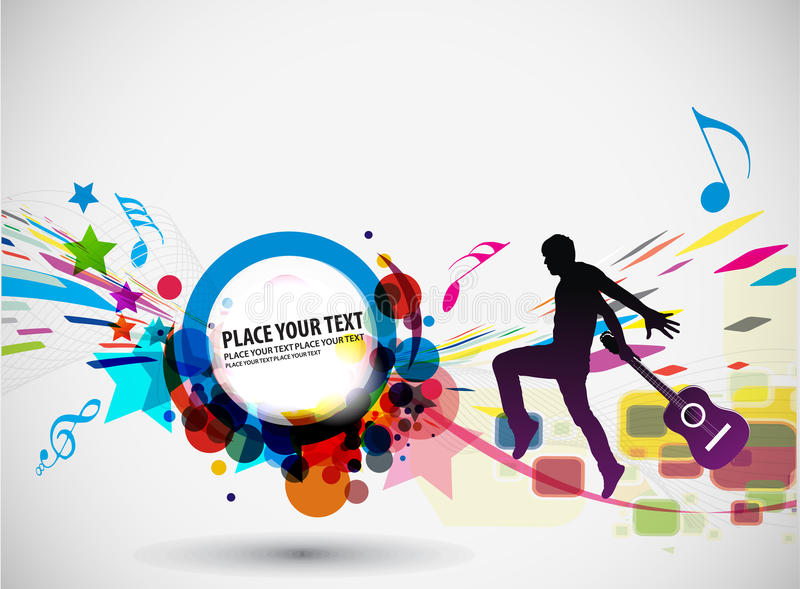 Concept de musique illustration stock