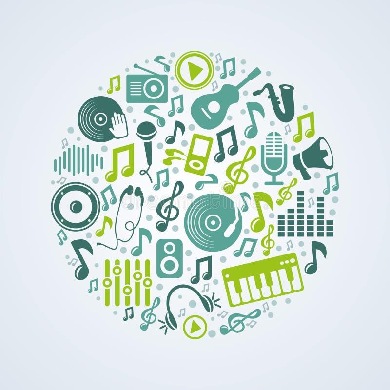 Concept de musique de vecteur illustration stock