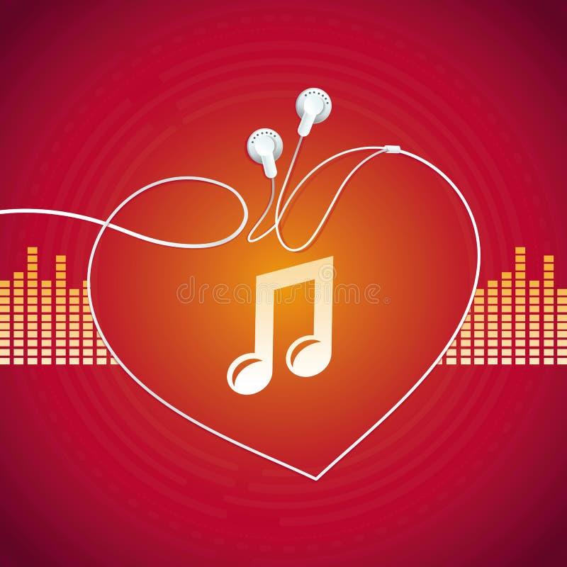 Concept de musique de vecteur illustration libre de droits