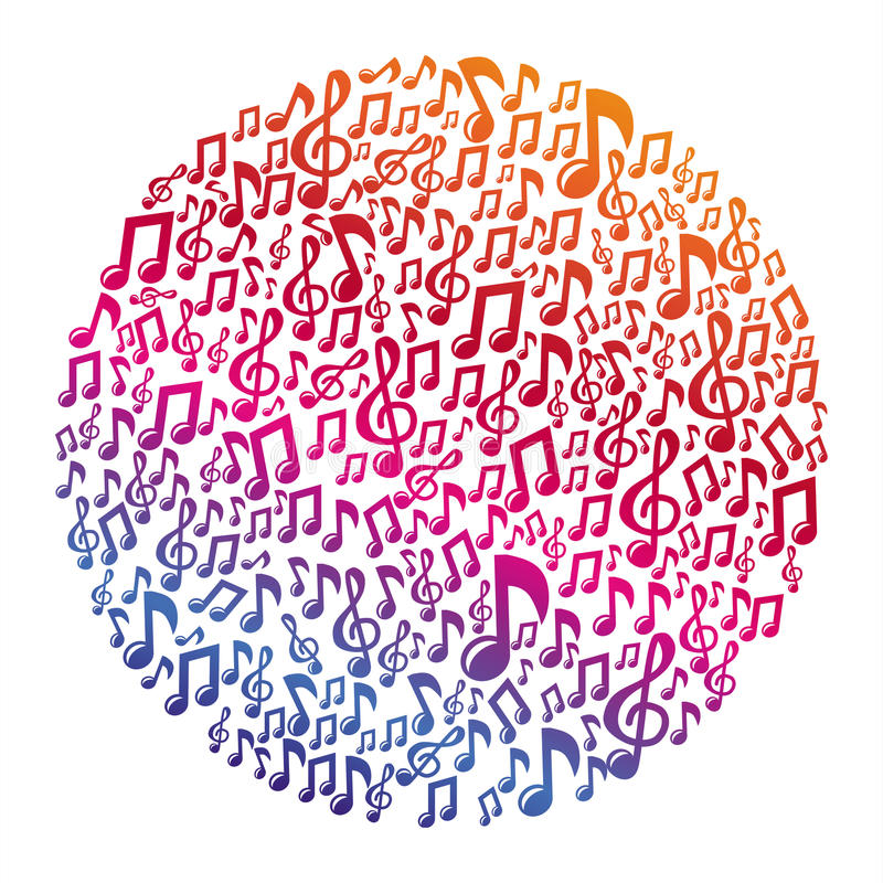 Concept de musique de vecteur - notes musicales illustration libre de droits