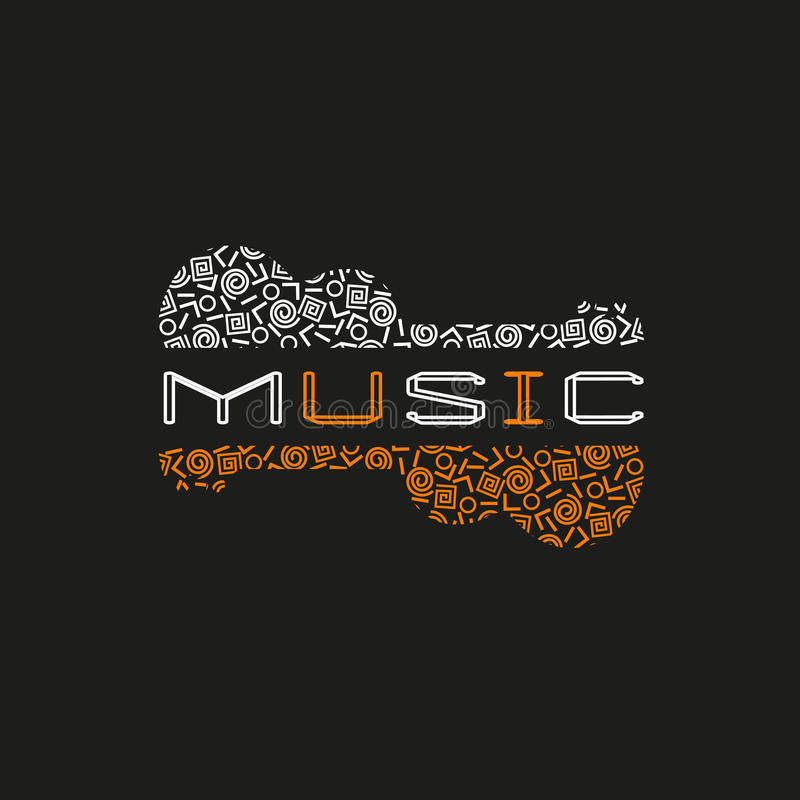 Concept de musique en direct image libre de droits