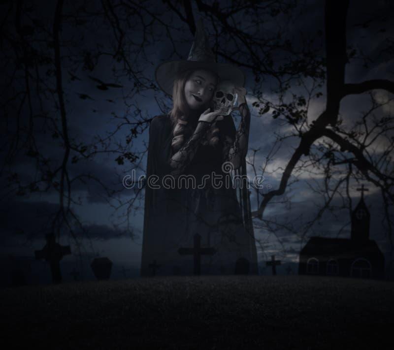 Concept de mystère de Halloween image stock