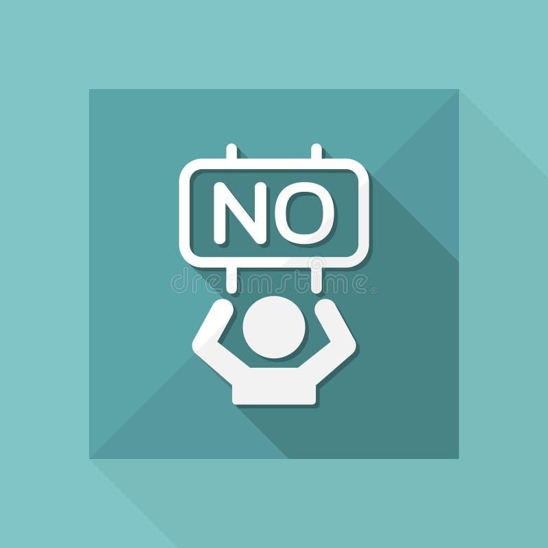 Concept de négation - icône de Web de vecteur illustration de vecteur