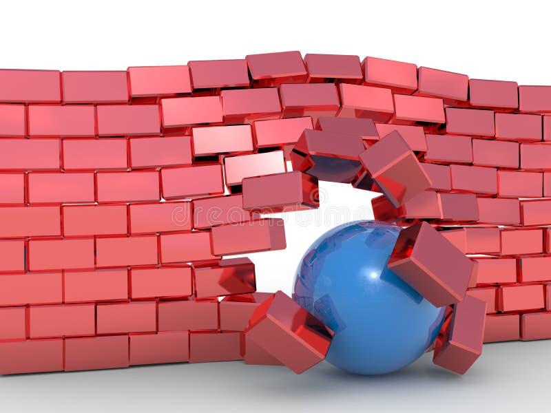 Concept de négociation d'obstacle illustration stock