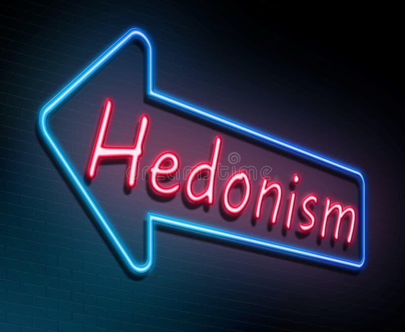 Concept de néon d'hédonisme illustration de vecteur