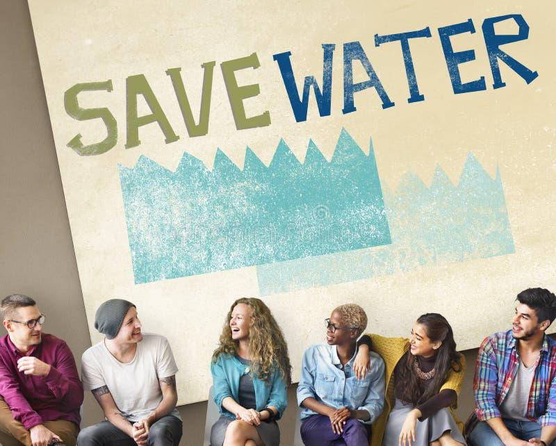 Concept de nature de durabilité de conservation de l'eau d'écologie photographie stock