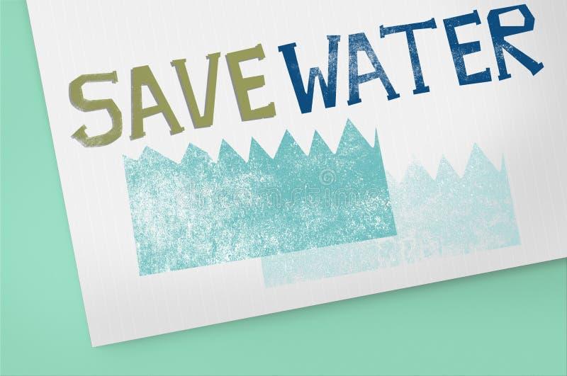 Concept de nature de durabilité de conservation de l'eau d'écologie illustration de vecteur