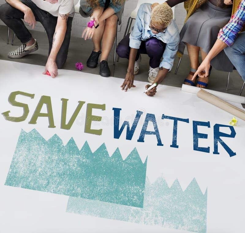 Concept de nature de durabilité de conservation de l'eau d'écologie photographie stock libre de droits