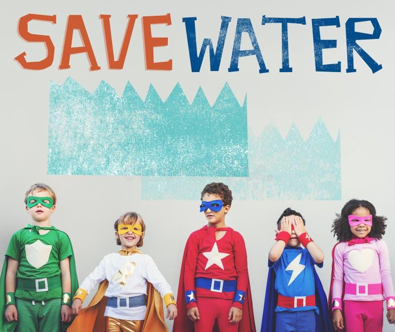 Concept de nature de durabilité de conservation de l'eau d'écologie images libres de droits