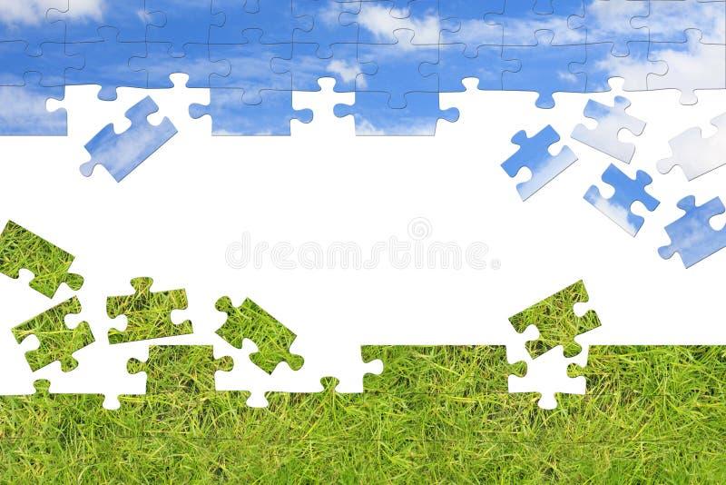 Concept de nature - puzzles 3d illustration de vecteur