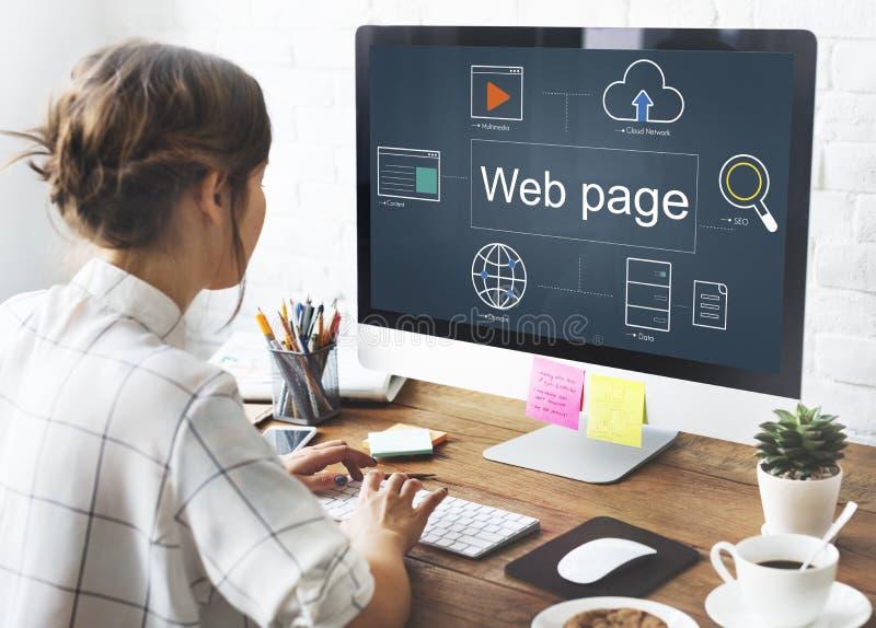 Concept de navigateur de HTML de Webinar de page Web photos libres de droits