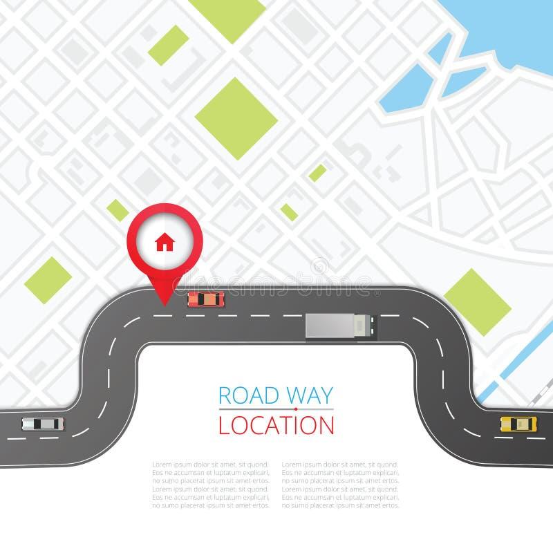 Concept de navigation avec l'indicateur de goupille illustration de vecteur