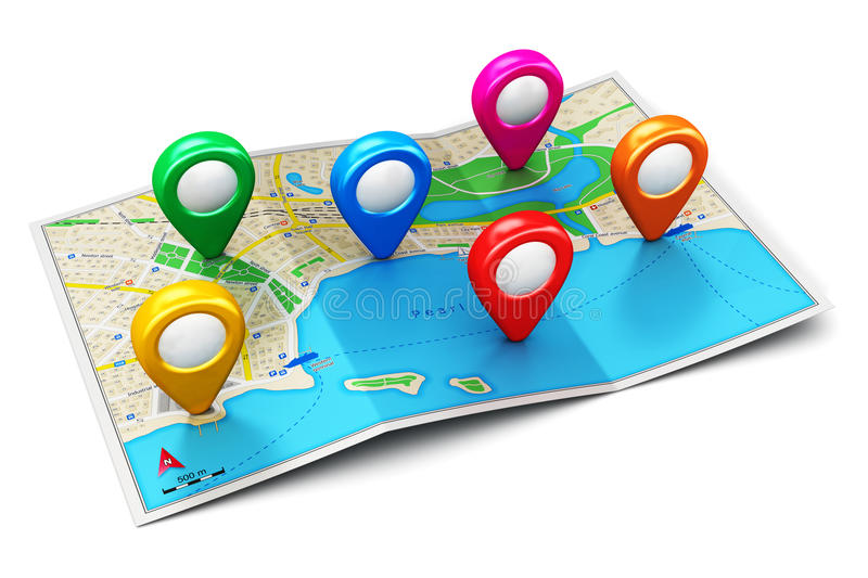 Concept de navigation de GPS illustration libre de droits
