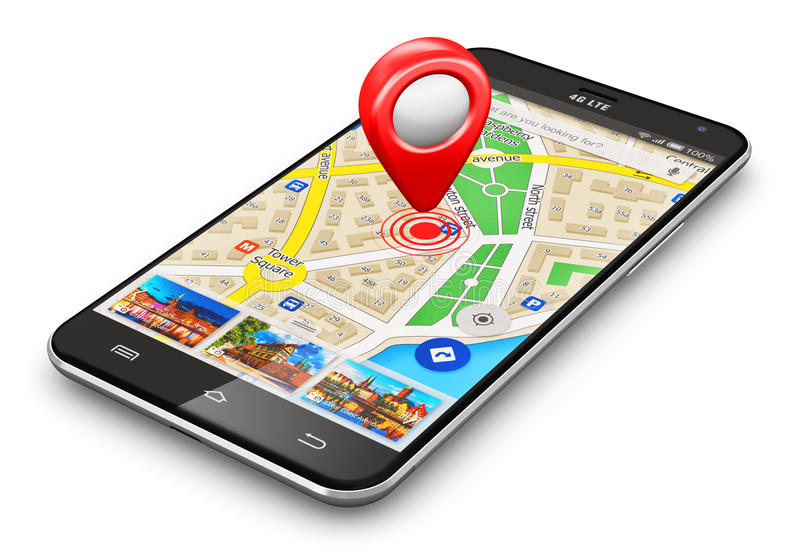 Concept de navigation de GPS illustration stock