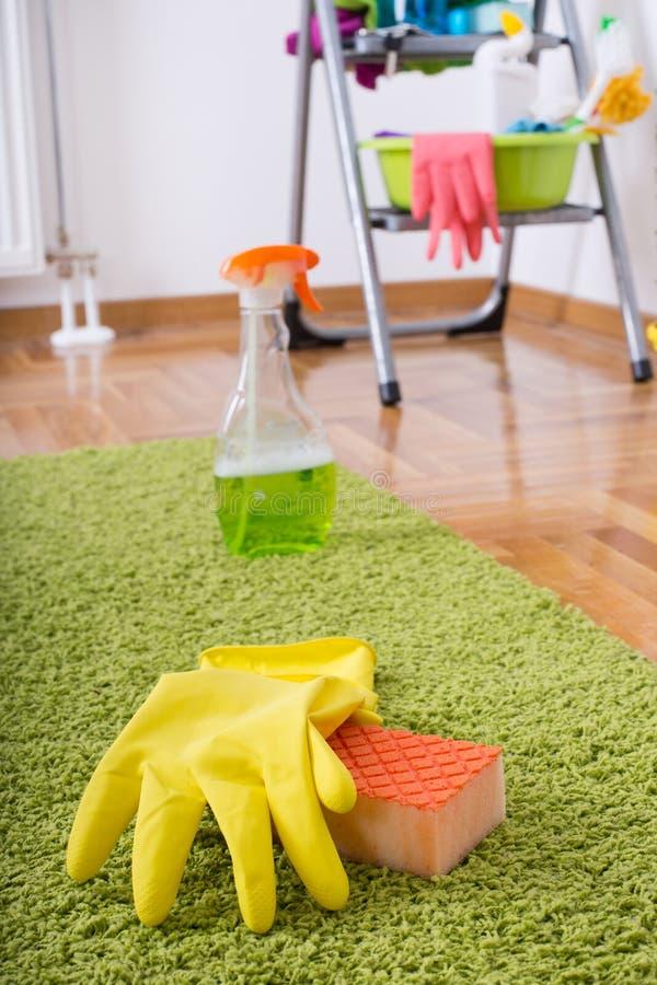 Concept de nettoyage de tapis image stock