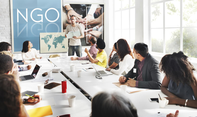 Concept de NGO Contribution Corporate Foundation Nonprofit image libre de droits