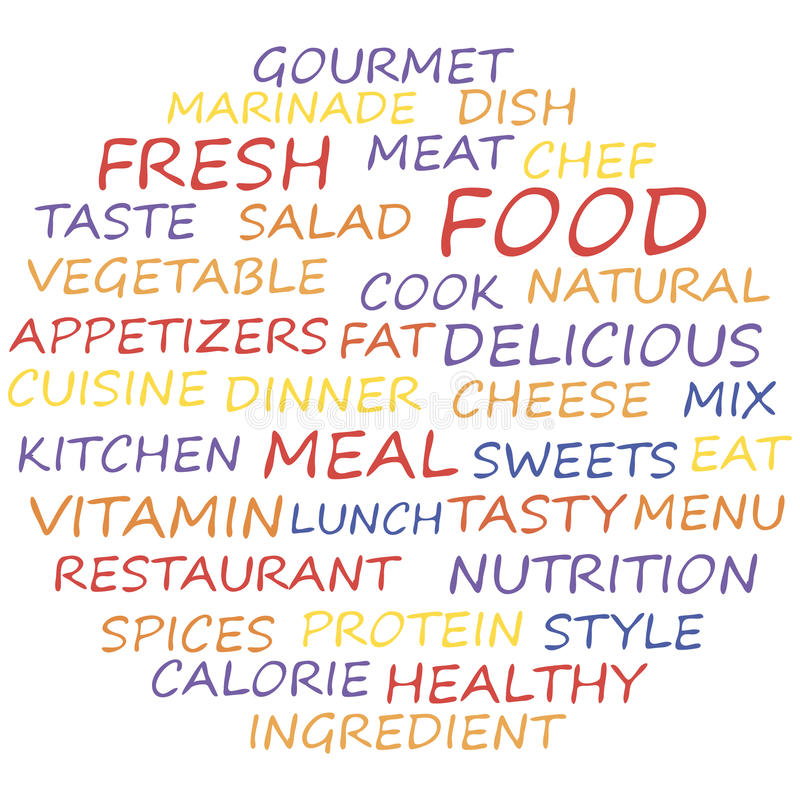 Concept de nourriture illustration stock