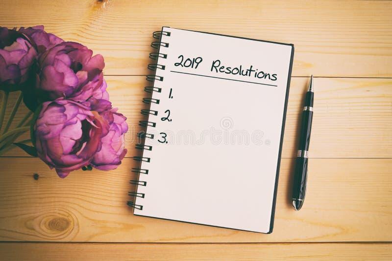 Concept de nouvelle année - 2019 résolutions image libre de droits