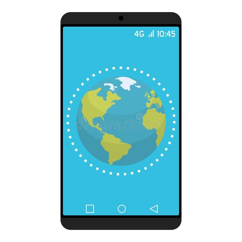 Concept de nouvelle technologie et de mondialisation illustration libre de droits