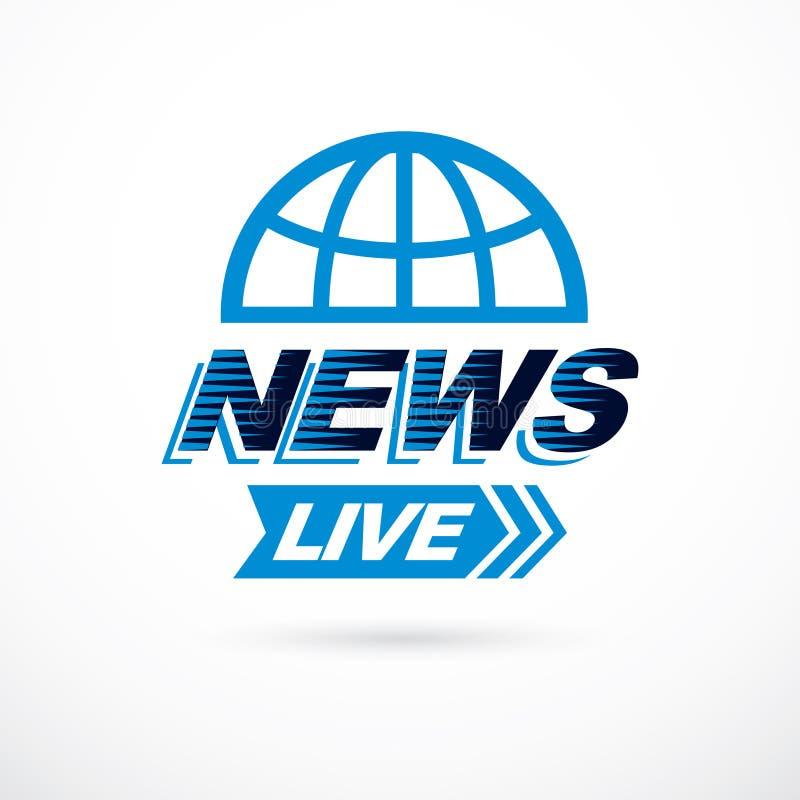Concept de nouvelles du monde, illustration de globe de vecteur Thème de journalisme illustration libre de droits
