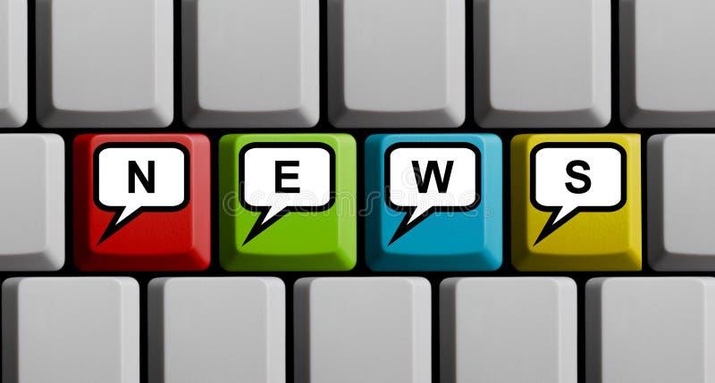 Concept de nouvelles en ligne photographie stock libre de droits