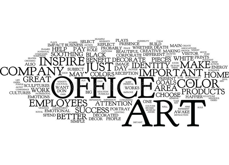 Concept de nuage d'Art For The Successful Office Word illustration stock