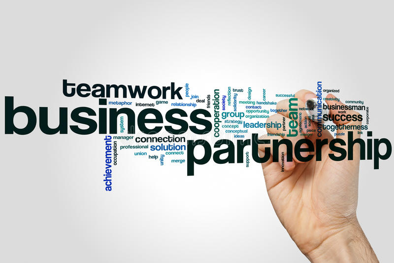 Concept de nuage de mot d'association d'affaires sur le fond gris photos libres de droits
