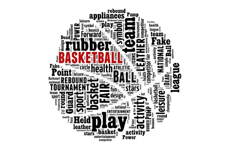 Concept de nuage de mot de basket-ball illustration libre de droits