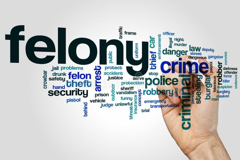 Concept de nuage de mot de crime sur le fond gris photos libres de droits