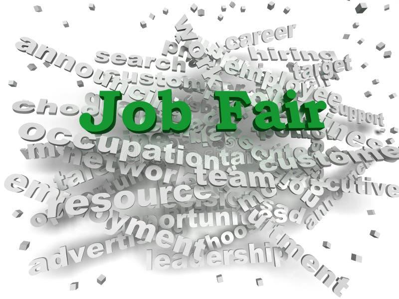 concept de nuage de mot de Job Fair de l'image 3d illustration stock